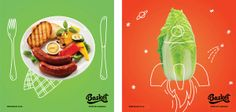 Basket grocery store by GLAD HEAD, via Behance