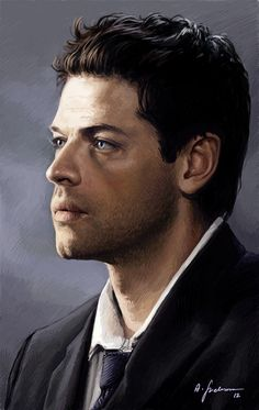 Another portrait of Castiel, because I love him so much ♥ Own art (Tumblr) #Supernatural #MishaCollins