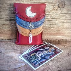 Moonlight Wolf Embroidered Tarot BagPouch