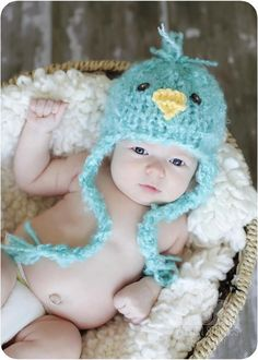 Little Fluffy Knit Baby Chick Hat