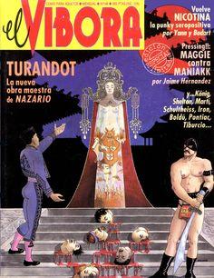 """cMag338 - """"El Víbora"""" Comic cover """"Turandot"""" by Nazario / Número 148 / 1992"""