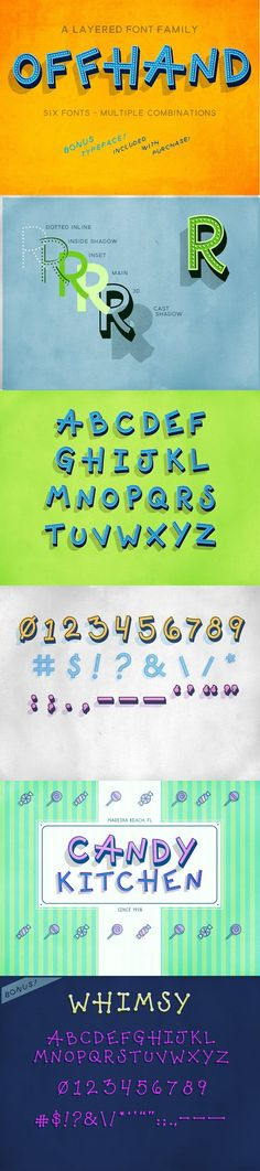 Offhand. Display Fonts