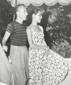 George Balanchine with ballerina and fourth wife Maria Tallchief ca. Ballet Pictures, George Balanchine, Ballet Dance, Ballerina, Lace Skirt, Handsome, Modern, Free, Beauty