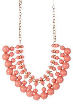 Isabelle Peach Dangle Bead Necklace by Monique Leshman on @HauteLook