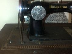 Husqvarna on a treadle; looks similar to a Singer 28