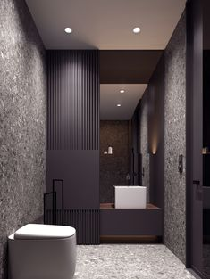 Discover more inspirational design ideas for your luxury bathroom project with the best bathroom vanities from the top brands ! Bathroom Layout, Bathroom Colors, Small Bathroom, Bathroom Ideas, Bathroom Organization, Bathroom Storage, Bath Ideas, Minimal Bathroom, Tile Layout