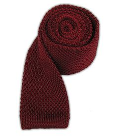 Knitted Silk - Red || Knitted Tie - Knitted - Red - Browse our Bow Ties, Cufflinks, Pocket Squares and Tie Bars