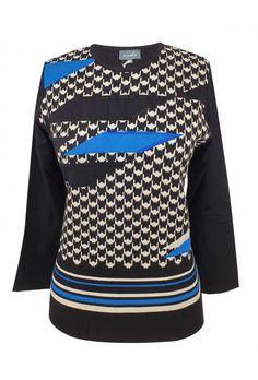 Μπλούζα pied de poule Jumpers, Christmas Sweaters, Knitwear, Shopping, Fashion, Houndstooth, Moda, Tricot, Fashion Styles