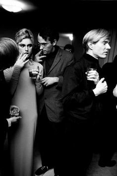 C is for Candid Camera Edie Sedgwick and Andy Warhol, mid-party. Edie Sedgwick and Andy Warhol, circa photographed by Steve Schapiro/Corbis Andy Warhol, Edie Sedgwick, Robert Rauschenberg, Everybody's Darling, Pop Art, Divas, Poor Little Rich Girl, Night Pictures, Portraits