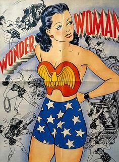 Vintage Wonder Woman by robpaella on Flickr.