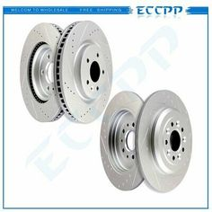 Front Drilled Slotted Brake Rotors /& Ceramic Pads For 09-15 Pontiac Grand Am