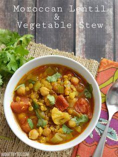Moroccan Lentil and Vegetable Stew - Budgetbytes.com