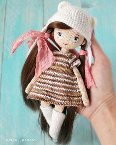 Lovely And Beauty Crochet Amigurumi Doll Patterns - Page 19 of 52 - Beauty Crochet Patterns! Crochet Doll Pattern, Crochet Toys Patterns, Stuffed Toys Patterns, Doll Patterns, Knitted Dolls, Crochet Dolls, Crochet Hats, Doll Tutorial, Amigurumi Doll