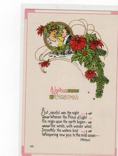 A Joyous Christmas  Postcard by sharonfostervintage on Etsy, $1.00