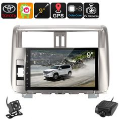 2 DIN Car Stereo - For Land Cruiser Prado, Car DVR, Rear View Camera, GPS, Android 6.0, WiFi, 3G, 9-Inch Display, Bluetooth - Let your passengers enjoy movies, games, and Apps on a crisp 9 Inch display with this 2 DIN car stereo for your Land Cruiser Prado.