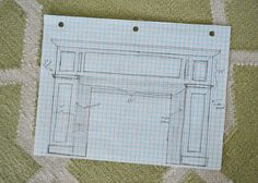 """YHL: """"Planning out our big fireplace makeover (and snatching up some cheap marble subway tile!"""" I'd really like to replace/cover up the black slate on our fireplace, though I like the mantel well enough as-is. Brick Fireplace Makeover, Fireplace Remodel, Fireplace Mantle, Fireplace Surrounds, Fireplace Design, Young House Love, Home Depot, Diy Craft Projects, Home Projects"""