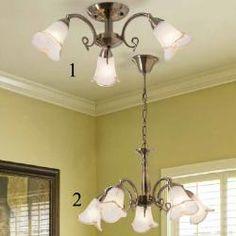 Tuscanor - Traditional Semi Flush Ceiling Light - DLU 1719/3