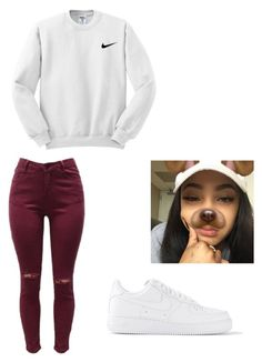 """""""Air Force"""" by jasmine-o28 ❤ liked on Polyvore featuring NIKE"""