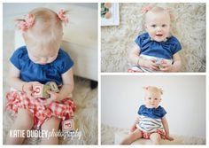 1 Year Old Studio Portraits | Salt Lake Natural Light Photographer » Katie Dudley Photography