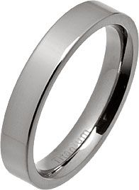 4mm Polished Flat Titanium Wedding Ring