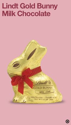 Celebrate the magic of Easter & bring joy to children (of all ages) with the iconic Lindt Gold Bunny. Wrapped in golden foil with a red ribbon, this worldwide symbol of Easter continues to delight everyone's inner child. It is perfect for any Easter basket or for creating your own unique centerpiece. So, give your little ones a sweet surprise with a bunny that wouldn't hop away.