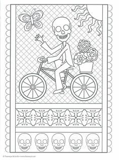 Free printable coloring pages for print and color, Coloring Page to Print , Free Printable Coloring Book Pages for Kid, Printable Coloring worksheet Skull Coloring Pages, Pattern Coloring Pages, Animal Coloring Pages, Coloring Pages To Print, Free Printable Coloring Pages, Coloring Book Pages, Adult Coloring, Coloring Sheets, Day Of The Dead Drawing