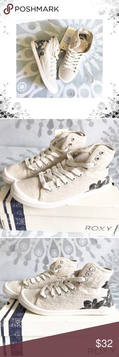 {Roxy} Rory Floral Print Mid-Tops Lace up sneaker with printed textile upper, memory foam padded insole with graphic print, and flexibilty tpr outsole with molded arch detail. Textile. Synthetic sole. Printed textile upper. Molded arch detail. Bundle for discounts! Thank you for shopping my closet! Roxy Shoes Sneakers