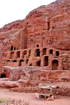 Petra, Jordan. Photo taken by Dennis Jarvis. It's part of his flickr photostream, here: https://www.flickr.com/photos/archer10/2217652480/ and here: https://www.flickr.com/photos/archer10/2217652480/in/set-72157603790974579
