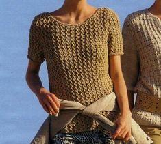 Tempo Libero: news e articoli Love Crochet, Knit Crochet, Crochet Tops, Knitting Patterns, Crochet Patterns, Summer Knitting, Drops Design, Spring Summer Fashion, Knitwear
