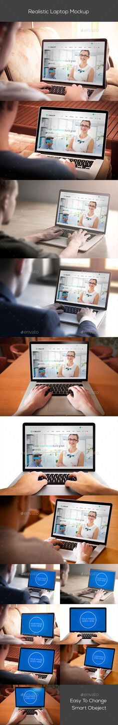 Realistic Laptop Mockup. Download here: http://graphicriver.net/item/realistic-laptop-mockup/15204870?ref=ksioks