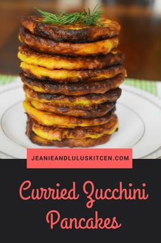 Curried Zucchini Pancakes