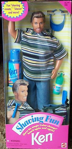 "Shaving Ken Doll - totally had this guy, although I think his beard won't ""shave off"" anymore!"
