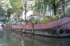 Dutch house boats in the canals