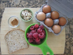 Ingredients for the Berry Almond French Toast from my newest book S.A.S.S! Yourself Slim