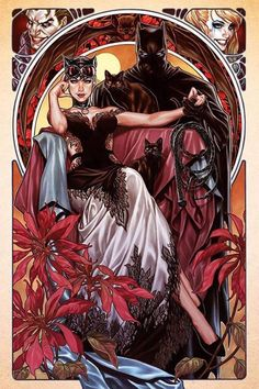 'Batman & Catwoman' by Mark Brooks, originally variant cover art for 'Batman' issue published July 2018 by DC Comics, now a new officially licensed print release through Sideshow Collectibles. Catwoman Cosplay, Cosplay Gatúbela, Batgirl, Batman Et Catwoman, Joker, Batman Love, Batman Art, Superman, Hq Marvel