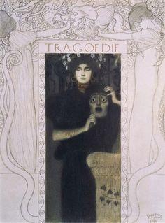 Gustav Klimt- Allegory of Tragedy, 1897
