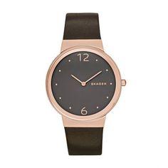 Skagen Armbanduhr – Freja Leather Gold – in braun – Armbanduhr für Damen