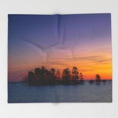Lake Mattamuskeet Sunrise Throw Blanket