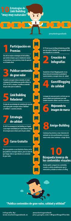 10 estrategias de Link Building muy naturales #infografia #infographic #seo | TICs y Formación