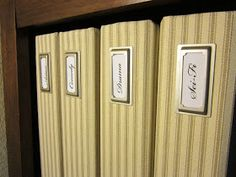 The Uncluttered Lifestyle: Making Standard Binders Pretty
