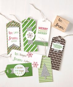 We absolutely love the scalloped tag topper punch for making tags any length!