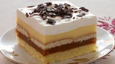 Fotorecept:Jablkové rezy so šľahačkou. Vanilla Cake, Tiramisu, Cheesecake, Food And Drink, Cooking Recipes, Pudding, Sweets, Ethnic Recipes, Gardening