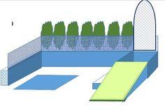 Gartentorbereich mit Rampe erster Entwurf... Plan: keine Treppenstufen wegen Fahrrad bzw. Kinderwagen. Aber am Ende gab es Rampe-Plattform auf Gartenhaushöhe-Rampe zum Rasen... war so auch sinnvoller ;)
