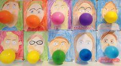 Vappu& own picture of a hand-drawn balloon Art Drawings For Kids, Drawing For Kids, Art For Kids, Preschool Art, Craft Activities For Kids, Kindergarten Art Projects, Art Lessons Elementary, Spring Art, Art Lesson Plans