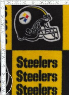 Steelers Dolly Blanket.  This can be found at http://www.yardbyyardfabricsandcrafts.com and is handmade.