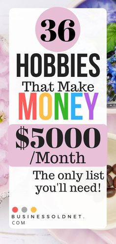 36 hobbies that make money. Make money from home with this extensive list of ideas! Perfect for a stay at home mom. that make money 36 Awesome Hobbies That Make Money And How to Started Today Hobbies For Women, Hobbies To Try, Hobbies That Make Money, Way To Make Money, Things To Sell, Hobbies List Of, Earn Money From Home, Make Money Online, Garage Sale Finds