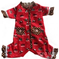Tonimari Pajama Chocolate Lover Red Brown
