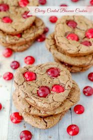 Cherry Cordial Browniw Cookies by The Sweet Chick