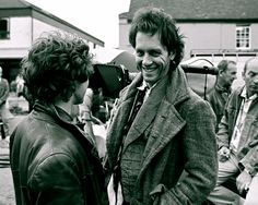 Paul McGann and Richard E. Grant on the set of Withnail & I