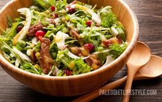 Steak And Cranberry Salad (hold the mustard) #aipaleo #autoimmuneprotocol